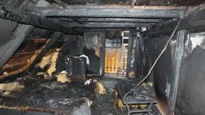Požiar domu od komína