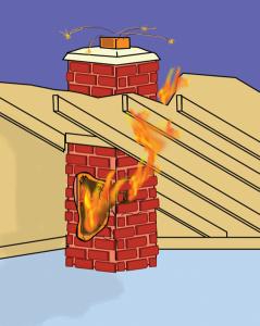 Požiar v komíne